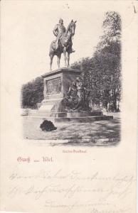 Gruss aus KIEL , Germany , PU-1898 ; Kaiser Denkmal