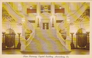 Mian Stairway Capitol Building Harrisburg Pennsylvania