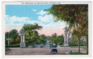 Portland, Me, Entrance to Deering Oaks