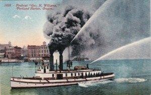 Oregon Portland Harbor Fireboat George H Williams In Action sk4102
