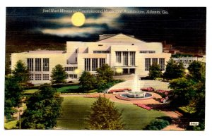 GA - Atlanta. Joel Hurt Memorial Fountain & Municipal Auditorium