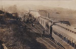 RP; BAINBRIDGE , Ohio , PU-1908 ; Train Wreck