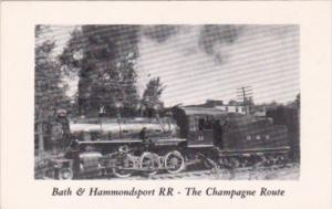 Trains Bath & Hammondsport Railroad No 11 In Bath New York