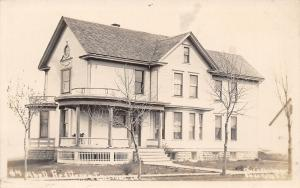 Inwood Iowa~Rounded Porch Edge~Measuring Party @ $5000 Abell Home RPPC 1911