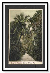 Florida, Miami - Road To Cocoanut Grove - Undivided Back - [FL-036]