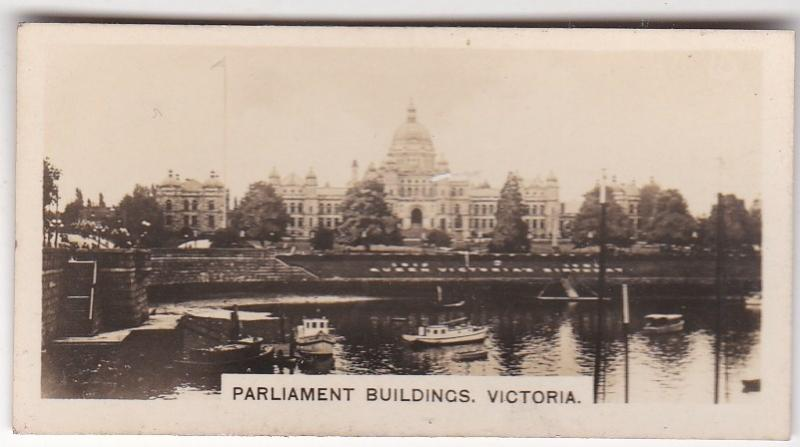 Cigarette Card Westminster : Canada No 30 Parliament Buildings Victoria