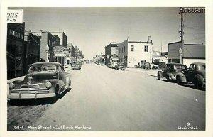 MT, Cut Bank, Montana, Main Street, Glacier Studio No. 6B-4, RPPC