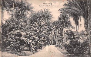 Gezicht Lands Plantentiun Buitenzorg Indonesia, Republik Indonesia Writing on...