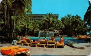 Acapulco, Mexico Postcard ACAPULCO PRINCESS HOTEL Swimming Pool Scene 1986