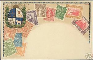 Uruguay, STAMP Postcard, Coat of Arms (ca. 1899)