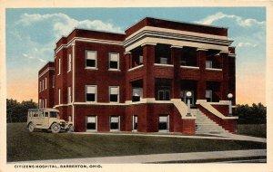 F87/ Barberton Summit County Ohio Postcard c1910 Citizens Hospital 10
