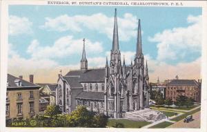 CHARLOTTETOWN (P.E.I.), Canada, 1910-1920s; Exterior, St. Dunstan's Cathedral