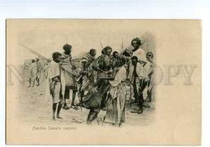 126560 DJIBOUTI Familles Somalis campees Vintage postcard
