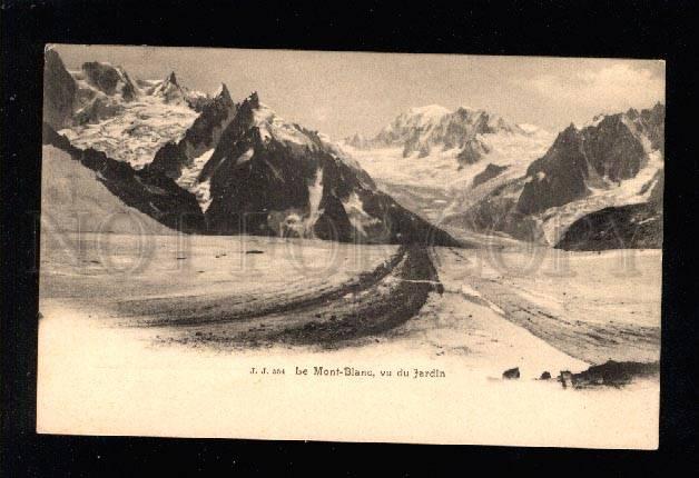 032281 CHAMONIX Mont-Blance view from Jardin Vintage
