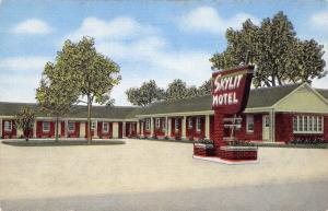 Brownsville Tennessee~Skylit Motel~Roadside US 70 & 79~1954 Linen Postcard