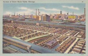 Illinois Chicago Section Of Union Stock Yards 1946