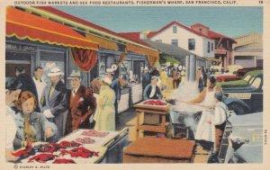 SAN FRANCISCO, 1930-40s; Outdoor Fish Markets and Sea Food Restaurants, Fishe...