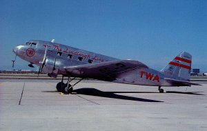 TWA - The Lindbergh Line, Douglas DC-2 Airplane. (Mary Jayne's RR Specialties)