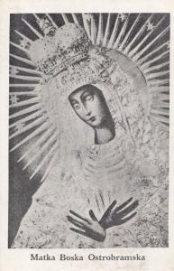 Matka Boska Ostrobramska Antique Religious Postcard
