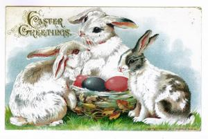 Vischer Ferry to Mayfield, New York Embossed Easter Postcard