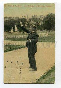 3058723 FRANCE Paris Charmeur d'oiseaux BIRDS Vintage RPPC