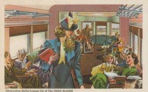 Pennsylvania Railroad's TRAIL BLAZER Train, 1930-40s ; Interior
