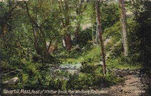 Head Of Whittier Brook Poet Whittiers Birthplace Haverhill Massachusetts