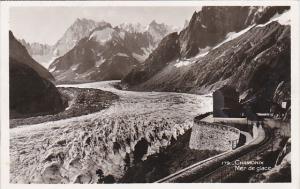 France Chamonix Mer de glace 1939 Real Photo