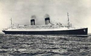SS Ile De France Paquebot Steamer, Steam Boat, Ship Ships, Postcard Postcards...
