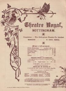 Colonel Victorian Military Comedy Nottingham Antique Theatre Programme