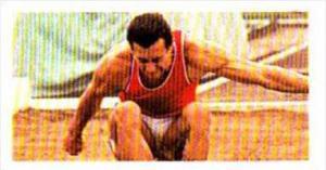 Brooke Bond Trade Card Olympic Greats No 13 Lynn Davies Great Britain