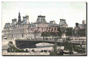 Postcard Old Town Hotel Paris march flower