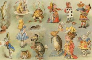 Alices Adventures In Wonderland Full Cast 1927 Book Postcard