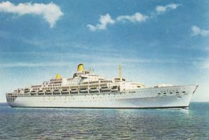 P&O Ocean liner ORIANA , 40-60s