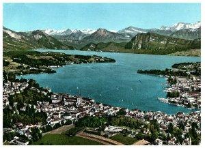 Lac Lucerne & Montagnes Aerial View Suisse Carte Postale