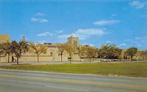 Chicago Heights IL Bloomfield Township Art Deco High School~1950s Cars