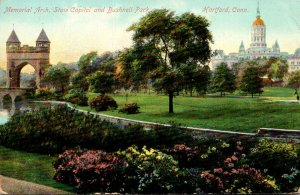 Connecticut Hartford Memorial Arch State Capitol and Bushnell Park 1909