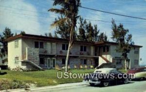 Mermaid Apartment Hotel Hollywood Beach FL 1954