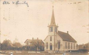 F53/ Holdrege Nebraska RPPC Postcard 1909 Swedish Lutheran Church