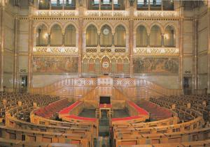 Hungary Budapest Parliament Assembly hall of the Lower House