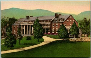1930s LURAY, Virginia Postcard MIMSLYN HOTEL Front View Hand-Colored Unused