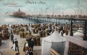 SCHEVENINGEN, Strand en Wandelhootd, South Holland, Netherlands, PU-1907