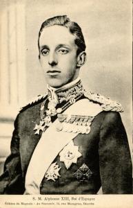 Spanish Royalty - King Alphonse XIII of Spain