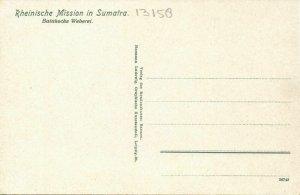 indonesia, SUMATRA, Weaving Batak Women (1910s) Mission Postcard