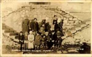 1912 Sktari Albania Real Photo postcard, Russian Refugee Children