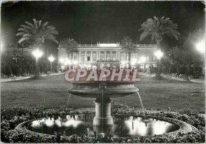 Nice Modern Postcard AM Gardens and Casino at night