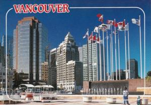 Canada British Columbia Vancouver Harbour Place Skyline