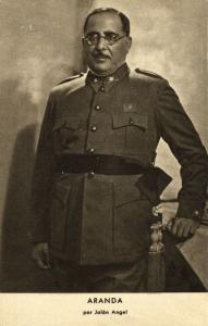 Spanish Civil War, Spanish Nationalist General Antonio Aranda Mata (1939)