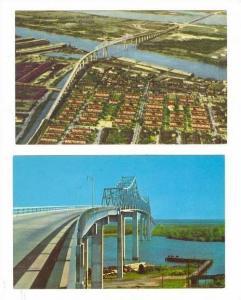 1950s,Talmadge Bridge, Savannah, Georgia
