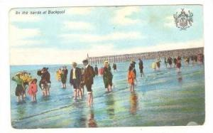 People Walking On The Sands At Blackpool, England, UK, 1900-1910s